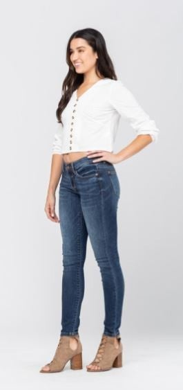 Judy Blue - Favorite Handsand Resin Skinny Denim