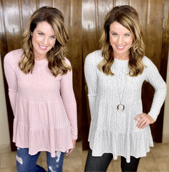 Do Yourself a Solid Feminine Longer Top - LMTD STOCK!!