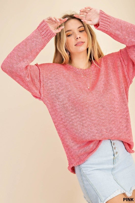 Look at the Bright Side Lightweight Sweater