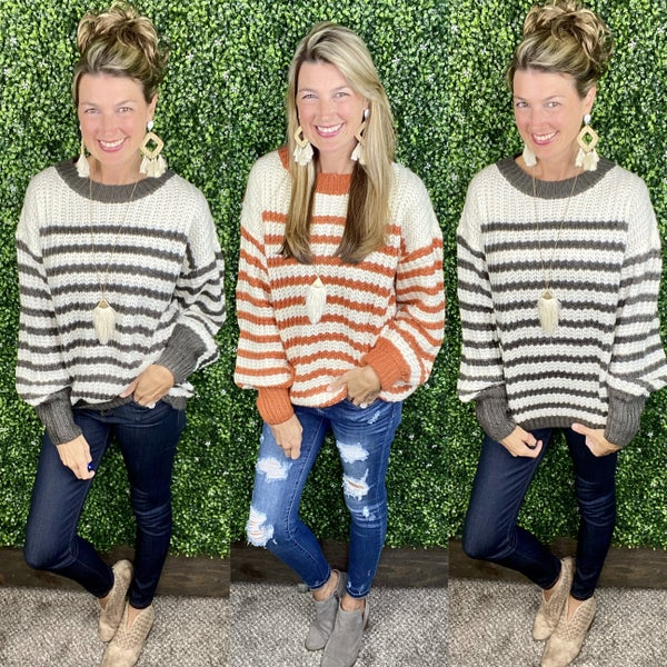 Honey Bee Striped Sweater