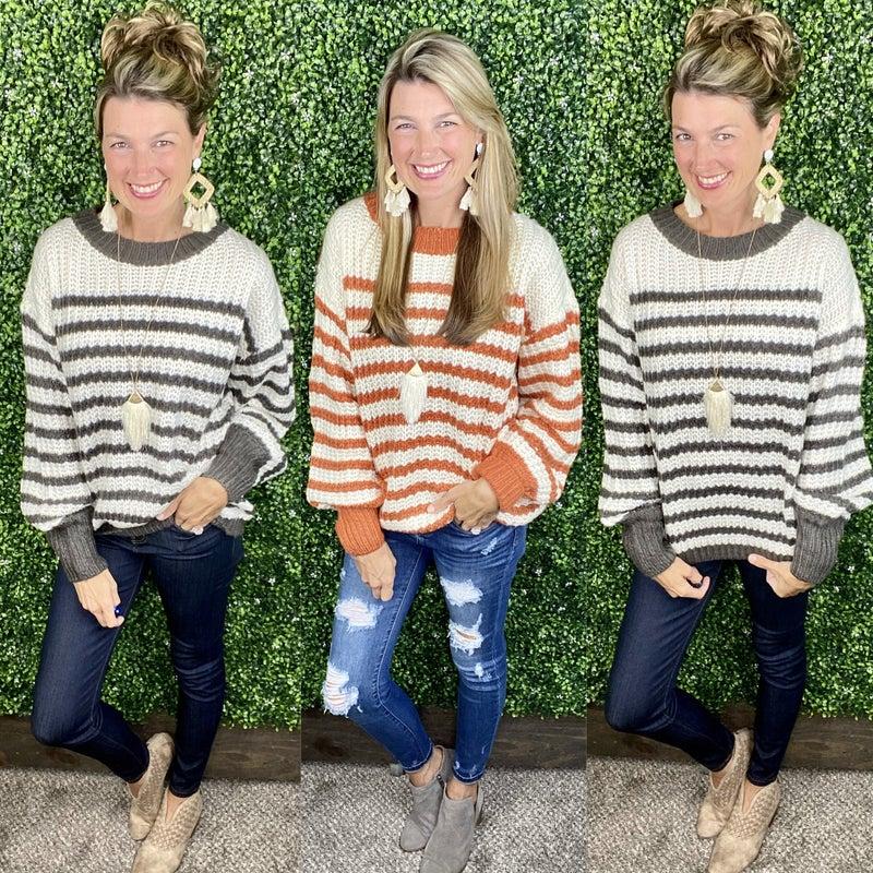 Honey Bee Striped Sweater