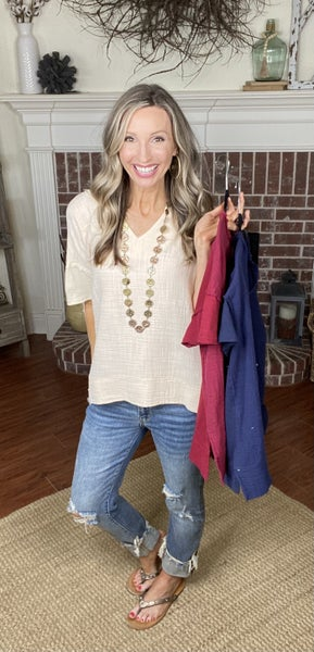 Just Say Yes Top - NEW COLORS!