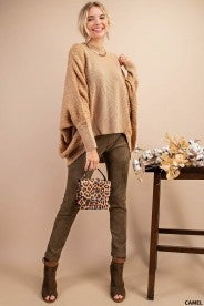 Solid Statement High Low Sweater
