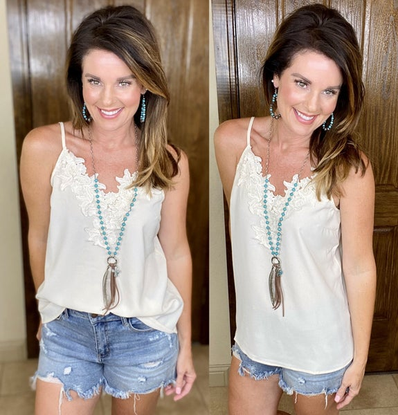 A Touch of Lace Cami Tank