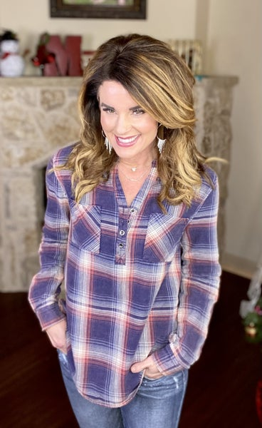 Candid & Casual Plaid Top
