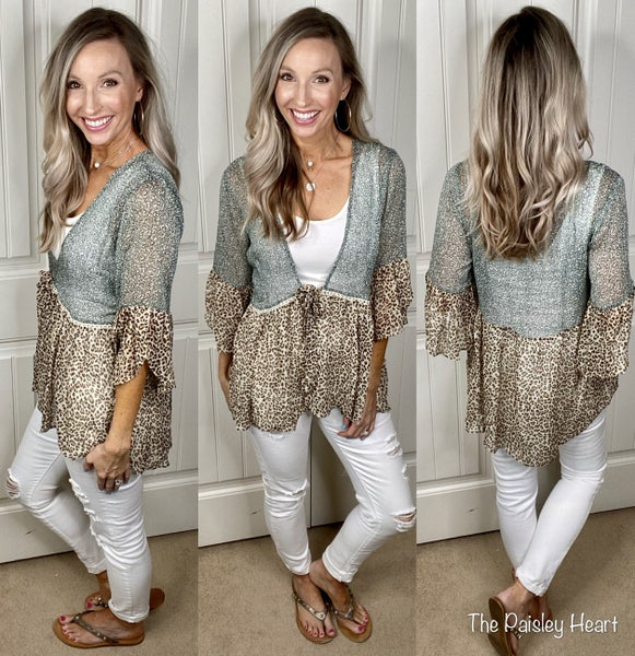 Lovely in Leopard Chiffon Cardigan
