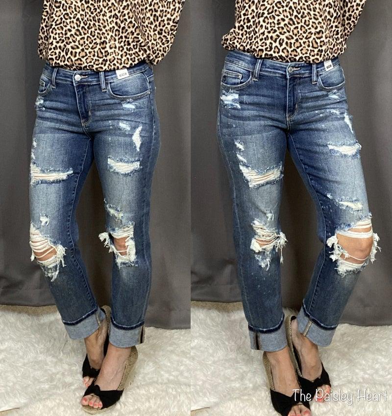 Judy Blue Vintage Boyfriend Jeans