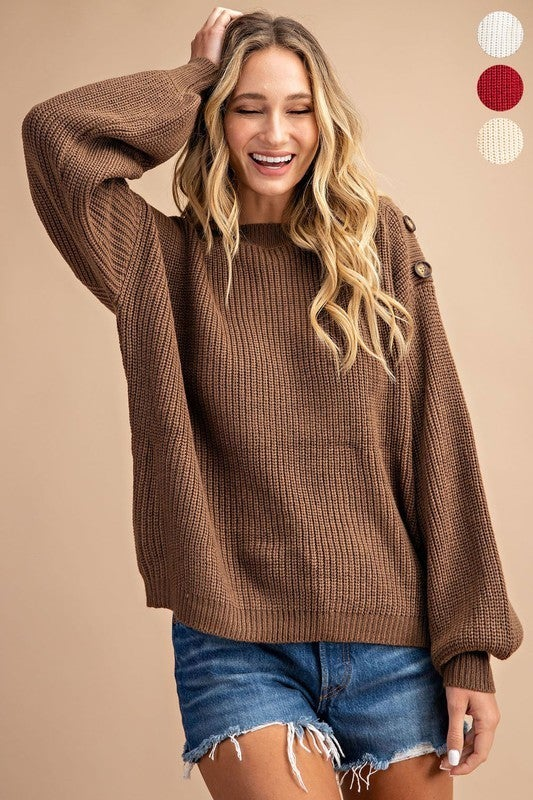 Cute as a Button Sweater