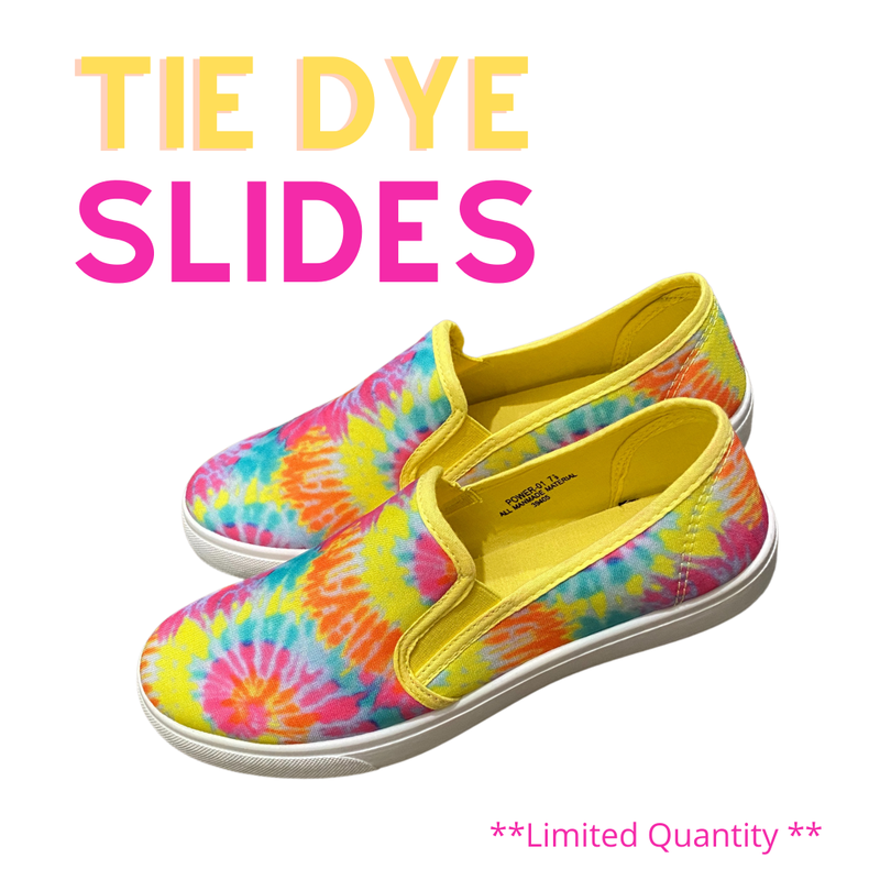 Comfy Tie Dye Slip On Shoes - LIMITED STOCK//NO RESTOCK!