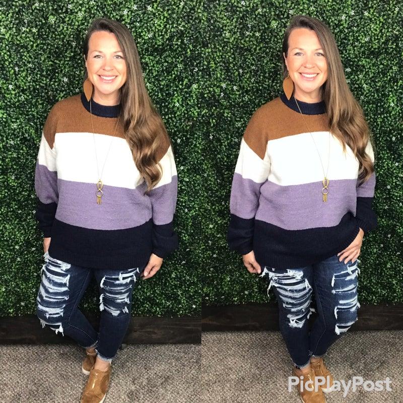 Fall Feels Colorblock Sweater