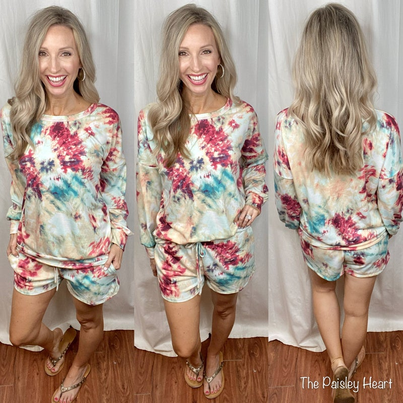 Tie Dye 2 Piece Lounge Set
