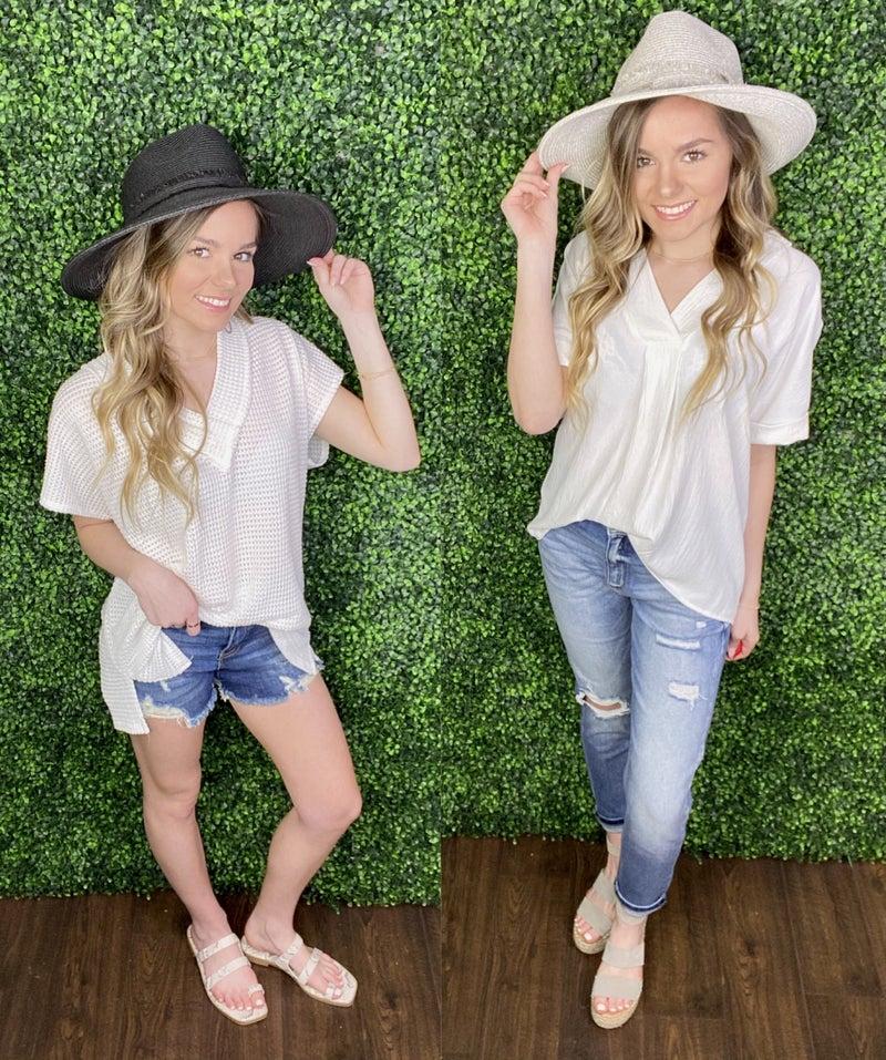 Miriam Natural Straw Wide Brim Panama Hat