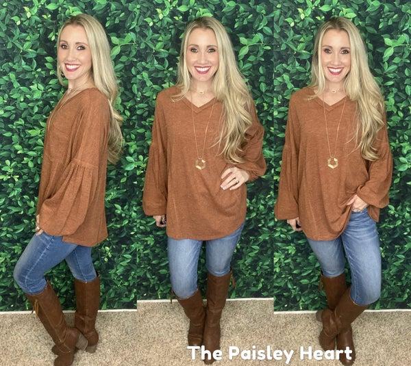 Ashley Oversized Hacci Boho Pullover
