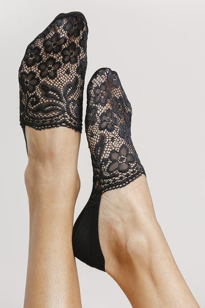 Floral Lace Detailed Invisible Socks