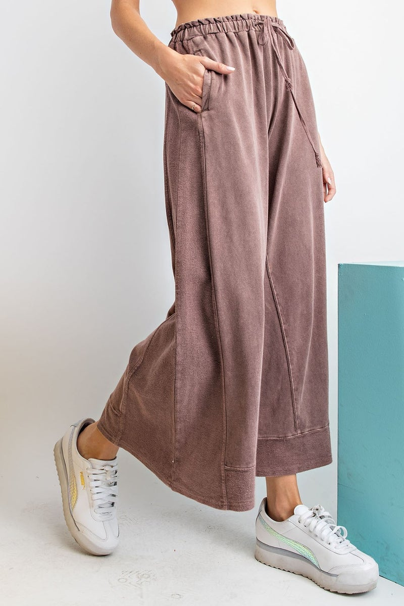 Soft Lightweight Mineral Washed Loose Fit Pants