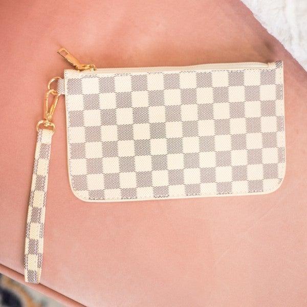 Designer Inspired Checkered Tote