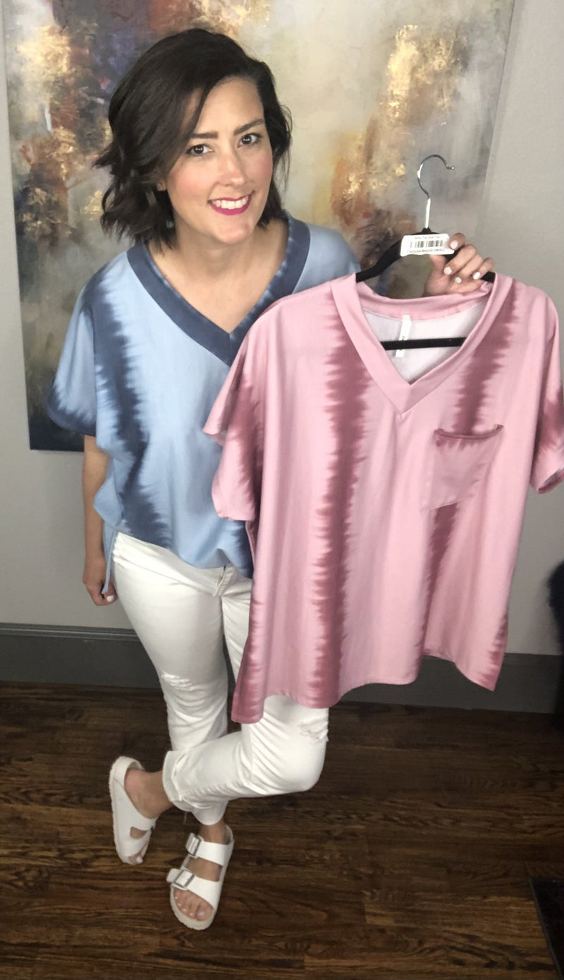 Amy Tie Dye Top: 2 Colors!
