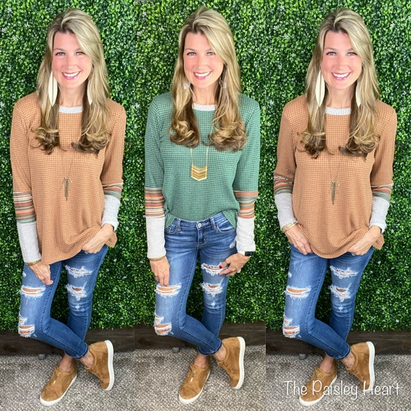Shalee Waffle Knit Top