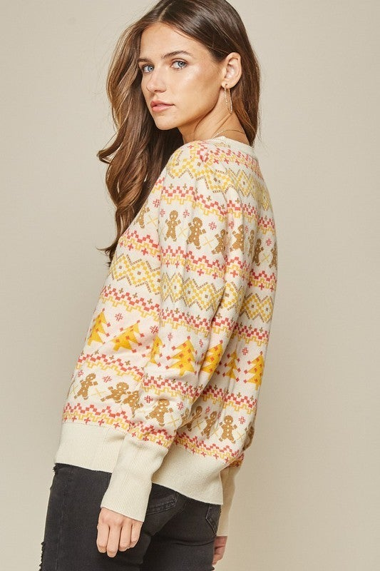 Gingerbread Hugs Sweater