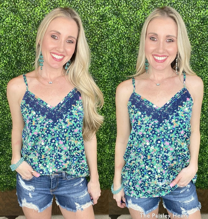 Clearly Chic Floral Tank