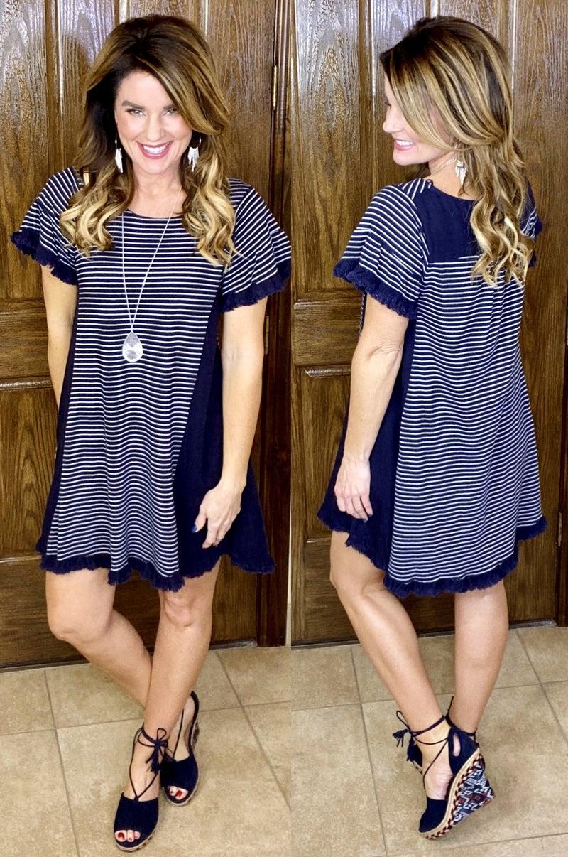 Kisses And Stripes Dress