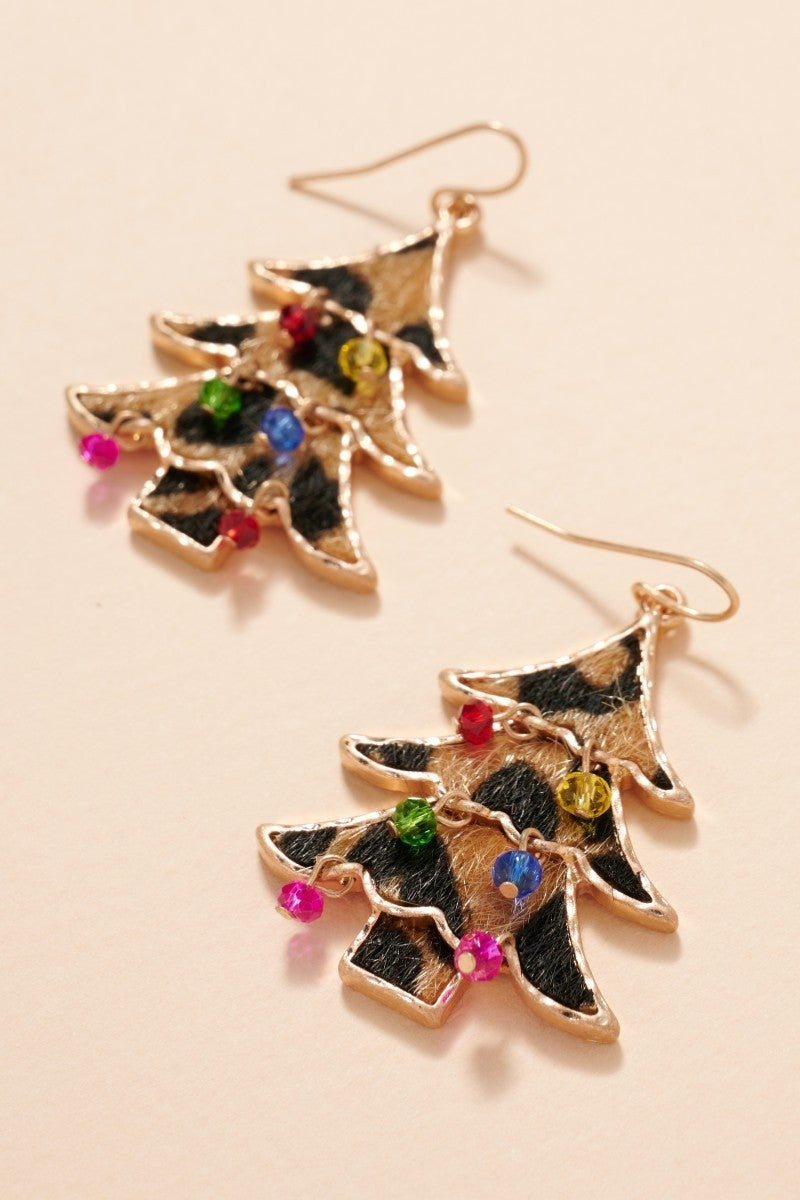 Rockin' Christmas Tree Earrings