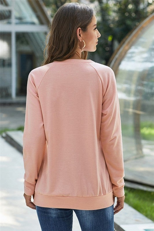 Zipper Detailed Solid Pullover