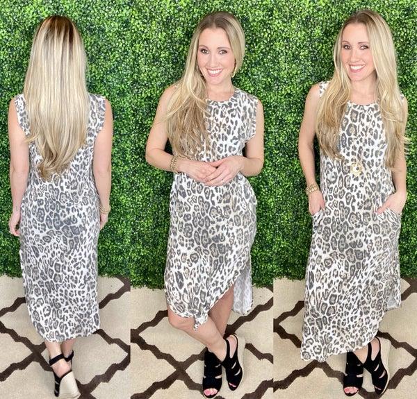 Dancing Downtown Leopard Dress
