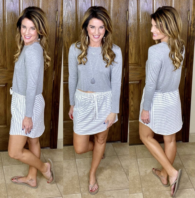 Avery Striped Skirt: 2 Colors