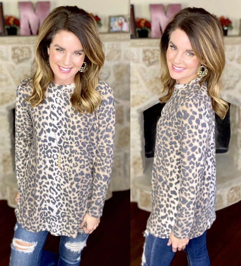 All That Leopard Top