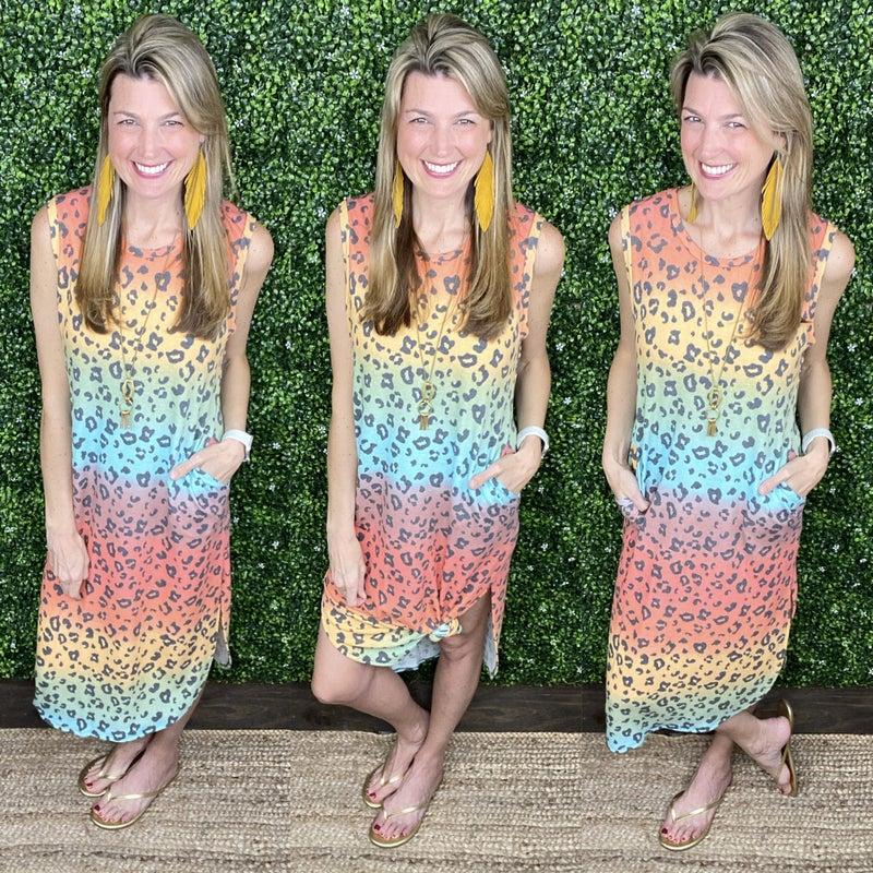 Camryn Leopard Dress