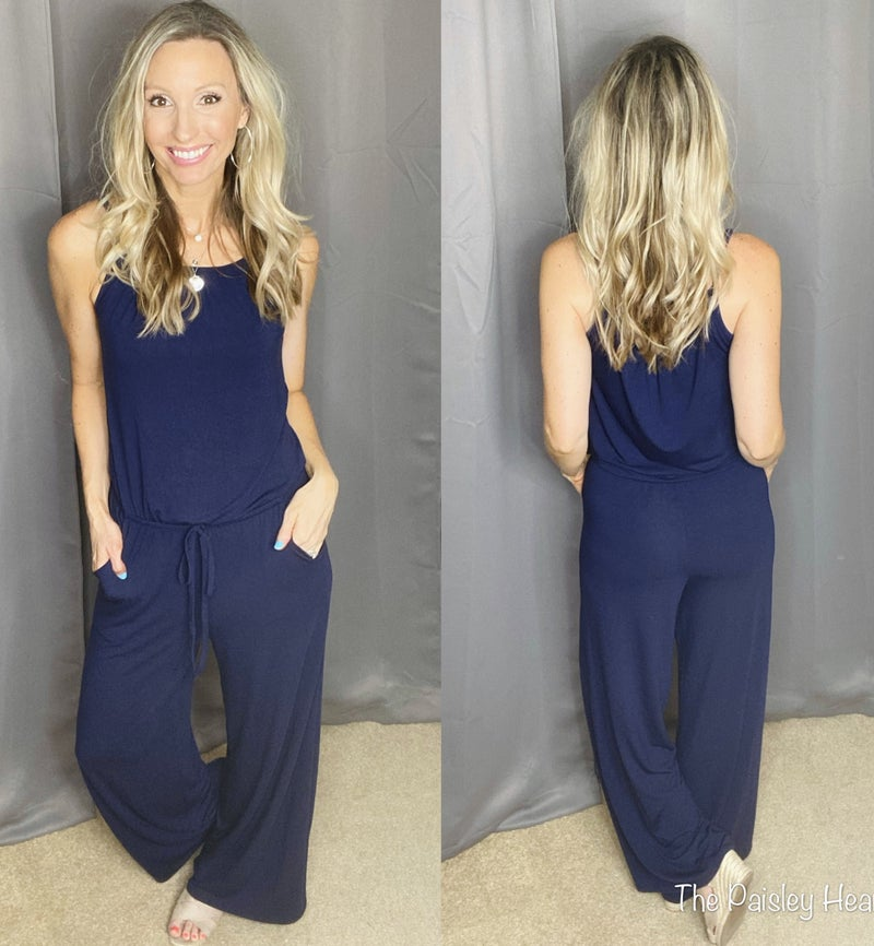 Strappy Summer Solid Jumpsuit