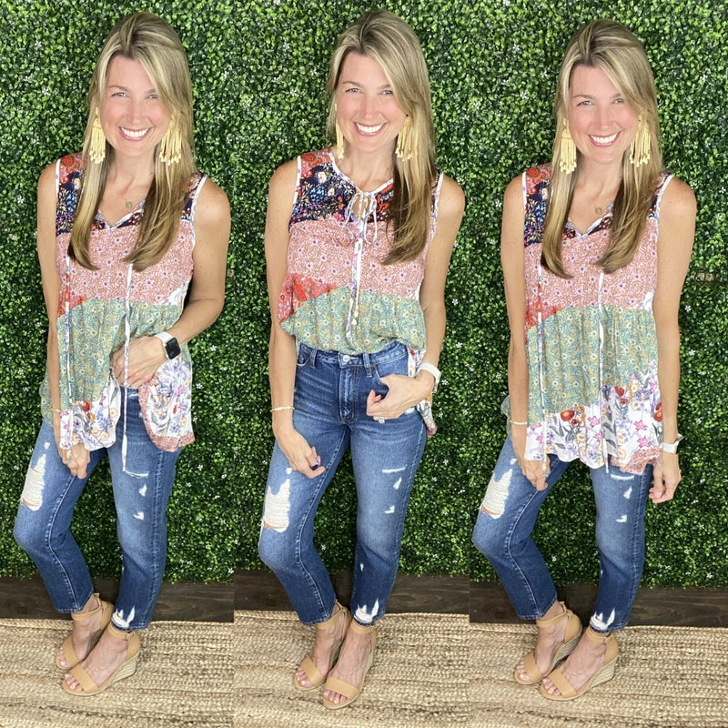 Mixed & Matched Love Top