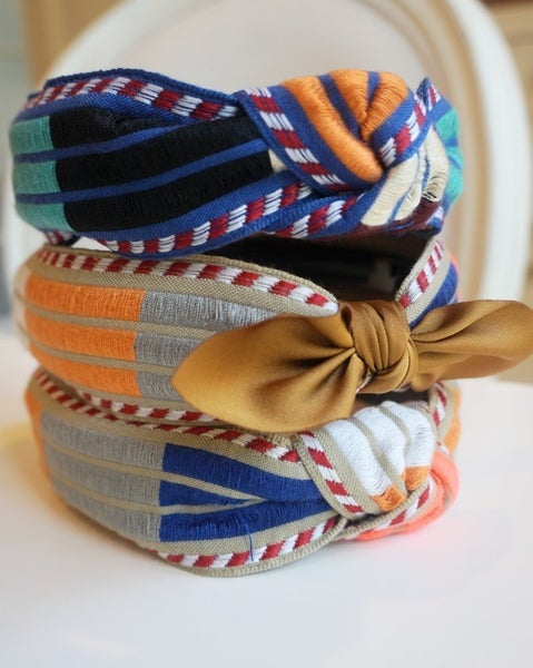 Embroidered Top Knot Headbands