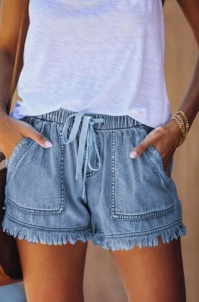 Sweet Comforts Elasticized Denim Shorts