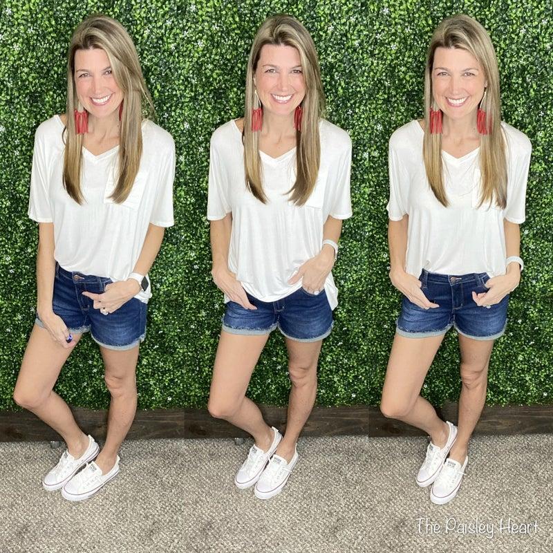 Judy Blue Cuffed Hem Shorts