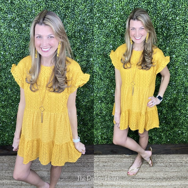 Everyday Sweetness Eyelet Dress
