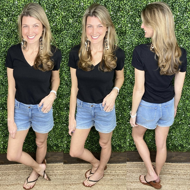 Judy Blue Light Cuffed Hem Shorts