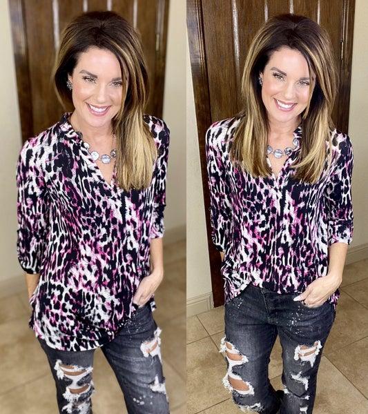 Cassandra Leopard Top