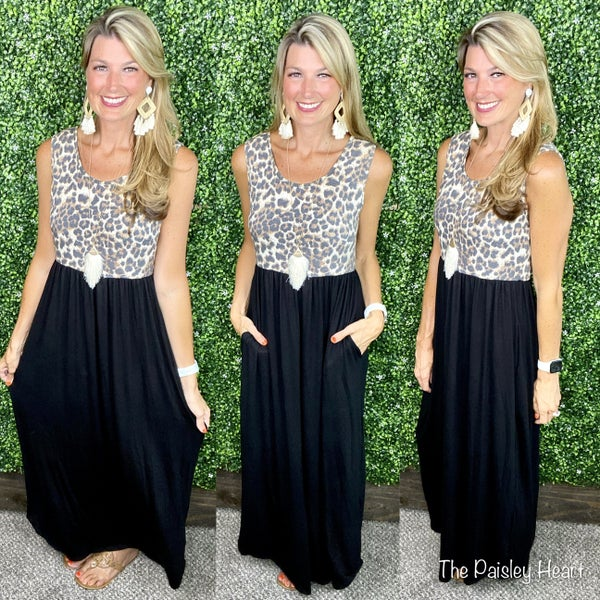 The Time is Meow Maxi Dress - LMTD//NO RESTOCK AVAILABLE!