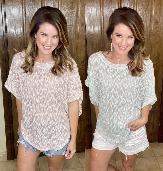 Two Toned Relaxed Fit Boxy Top