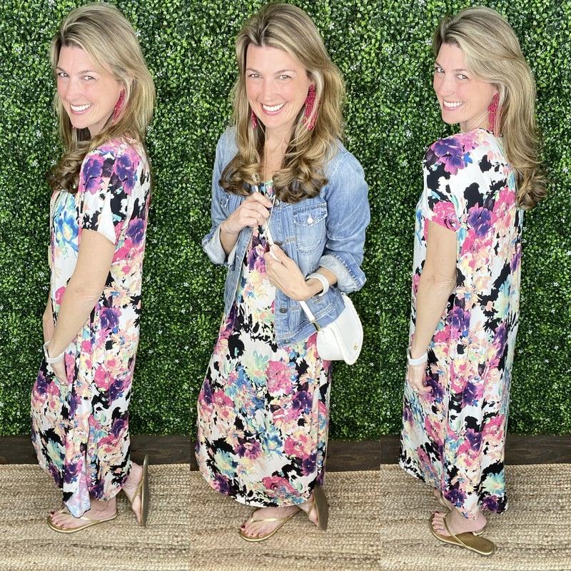 Floral Party Maxi Dress