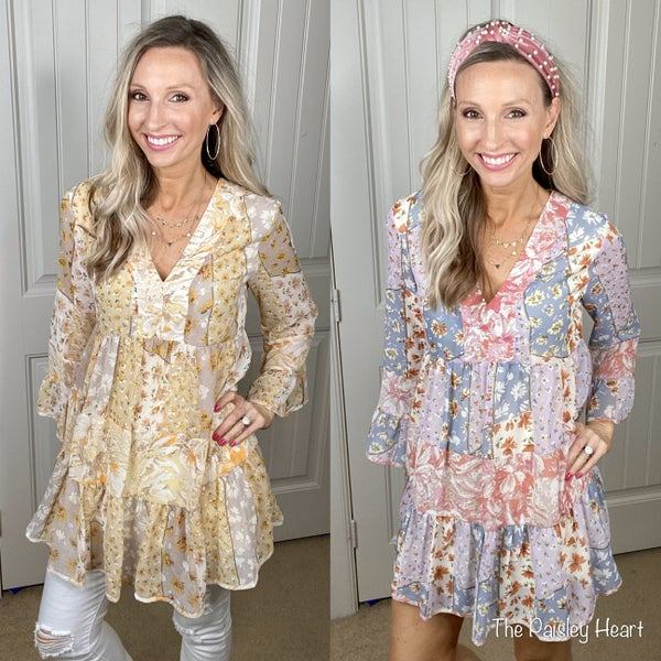 Patchwork Boho Shifter Dress