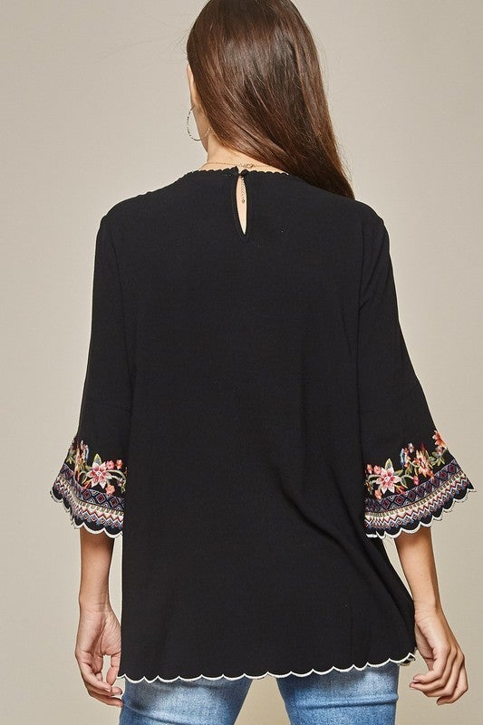 Emersyn Embroidered Top - LMTD/NO RESTOCK!!