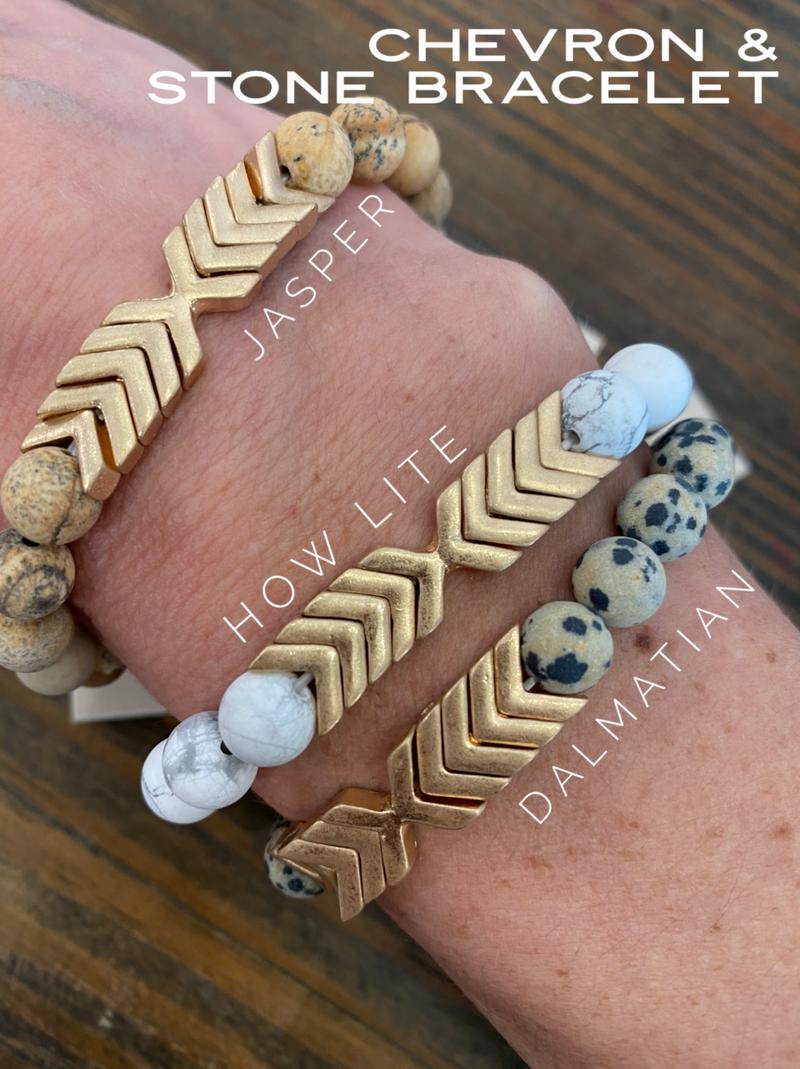 Chevron & Stone Bracelet