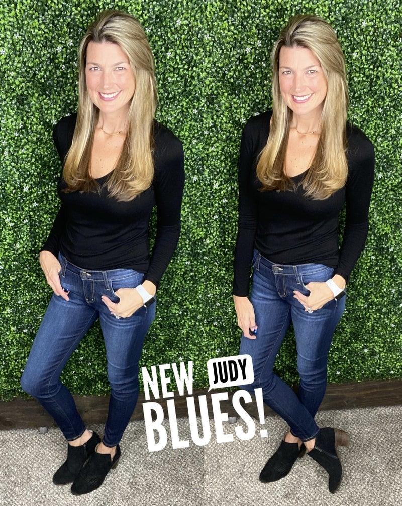 Judy Blue Distressed Rayon Skinny