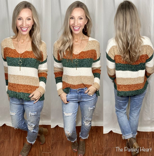 Chenille Colorblock Sweater