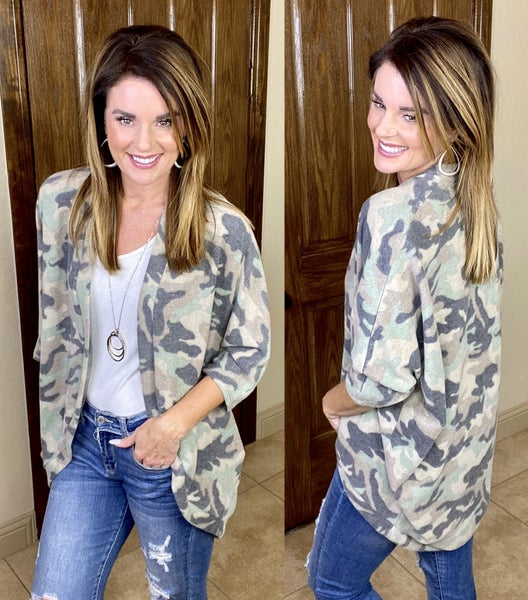 Camo Sweetheart Cardigan