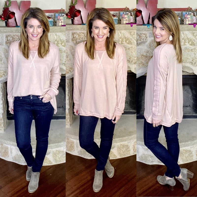 Solid Choice Long Sleeve Relaxed Pullover - 4 COLORS!