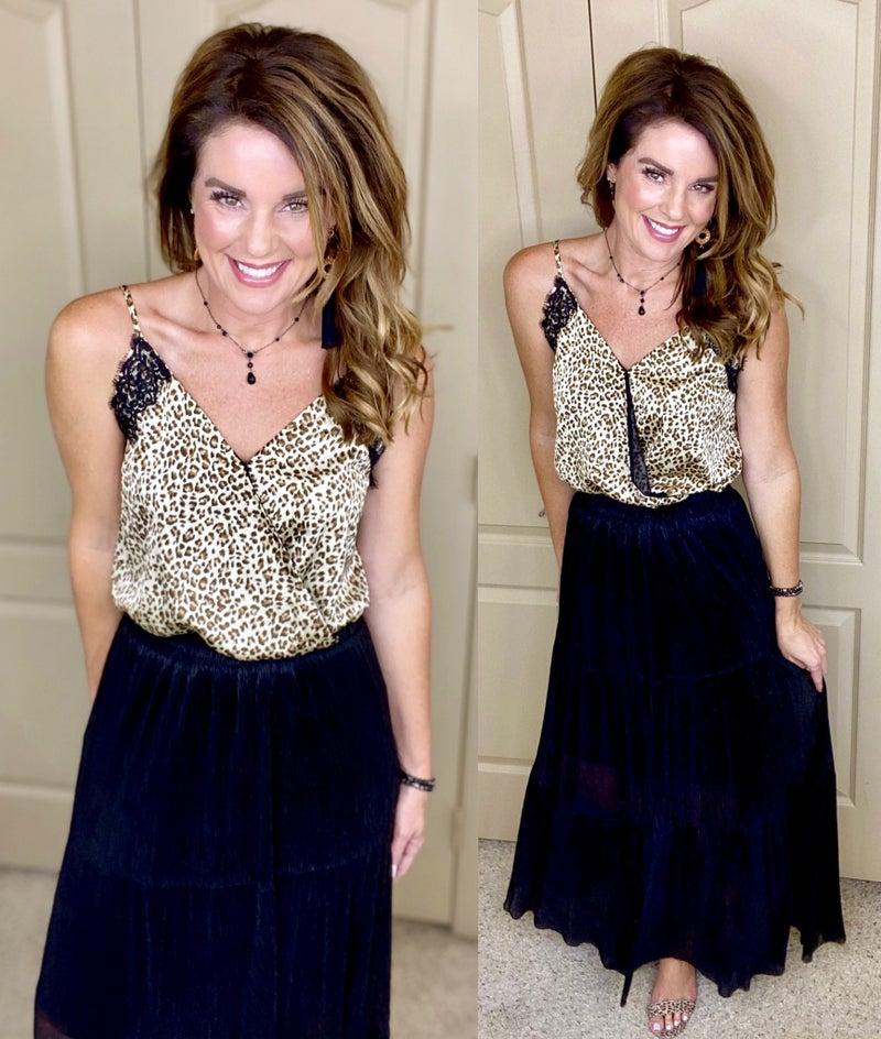 Leopard Print Cami Bodysuit!